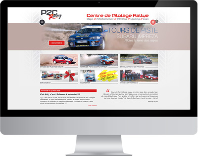 Nouveau site internet P2C racing