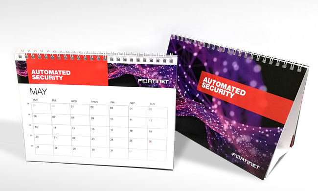 Calendriers de table chevalets 2019 Fortinet