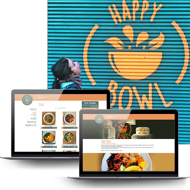 A Click'n'collect website for Happy Bowl