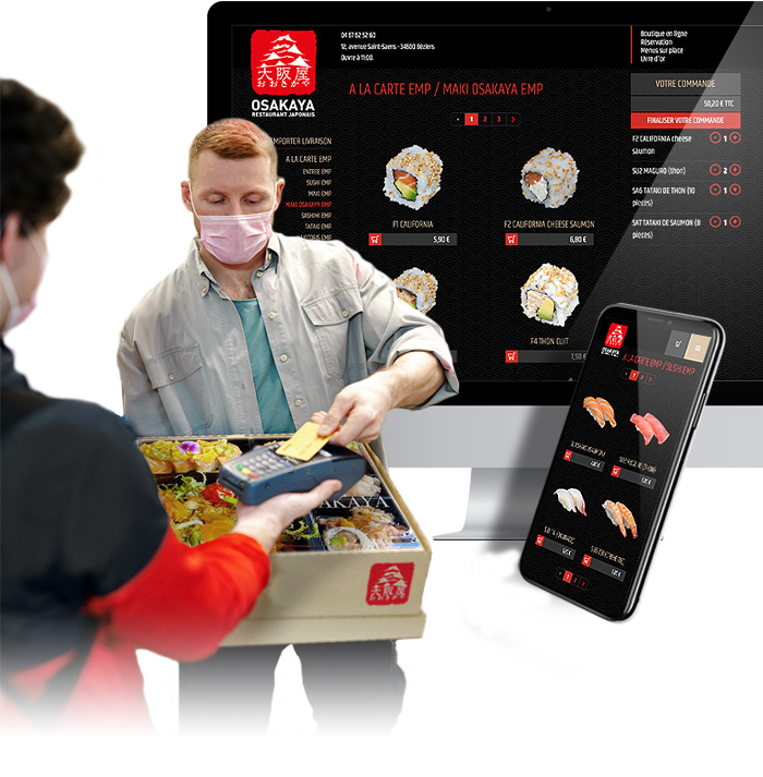 Click'n'collect solution for the Osakaya restaurant